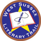 West Sussex Literary Trail badge